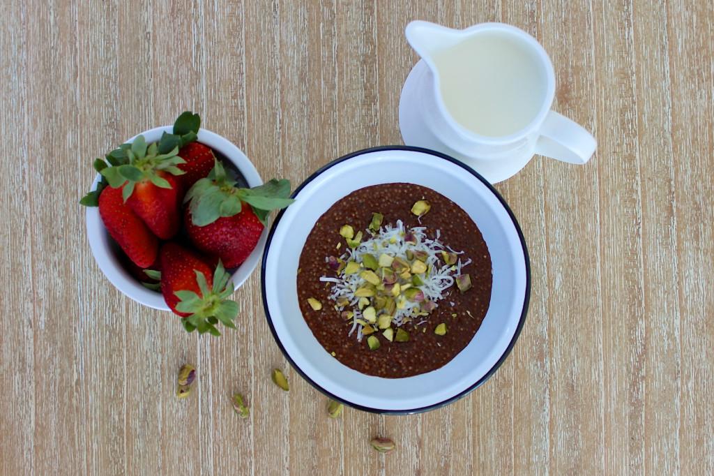 Chocolate, Pistachio & Coconut Quinoa Porridge