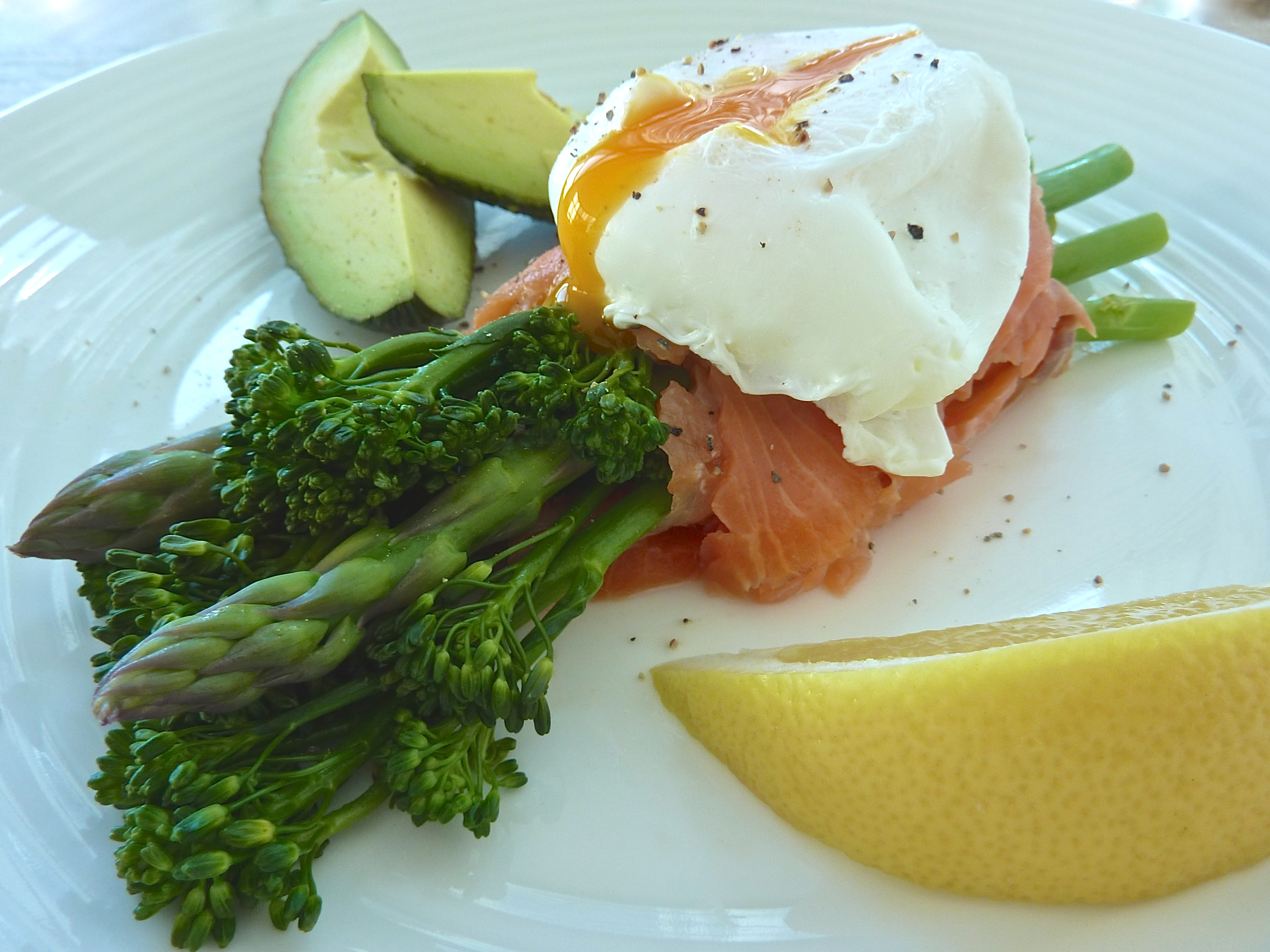 Salmon Wrapped Asparagus with Softly Poached Egg - The Fit Foodie
