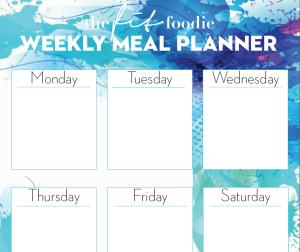 FREE Weekly Meal Planner