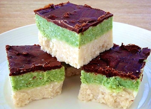 Raw Mint Bounty Slice recipe from The Fit Foodie. Gluten Free, Sugar Free, Vegan and HEALTHY!!!