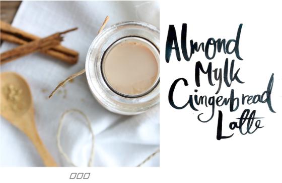 Almond Milk Gingerbread Latte