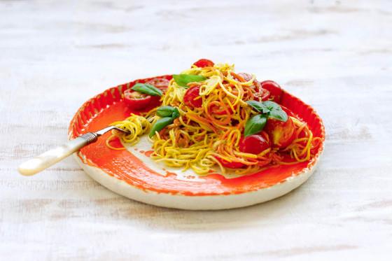 10 Minute Creamy Tomato and Basil 'Pasta'