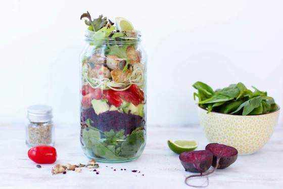 How to make Mason Jar Salads