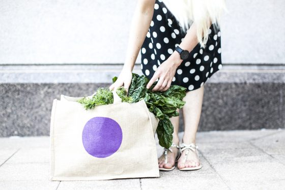 Inside the grocery basket of a health food blogger