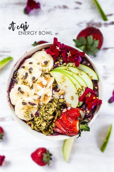Acai Energy Bowl recipe. How to make an acai bowl.