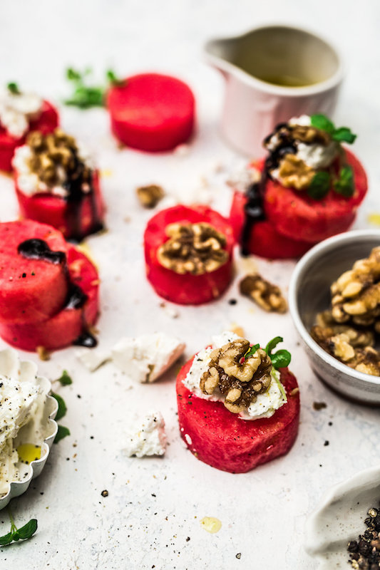 Feta + Watermelon Rounds