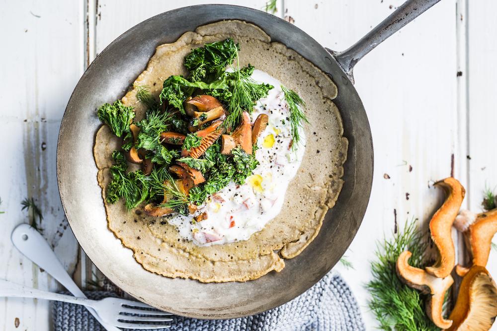 Kale Mushroom Buckwheat Pancakes The Fit Foodie