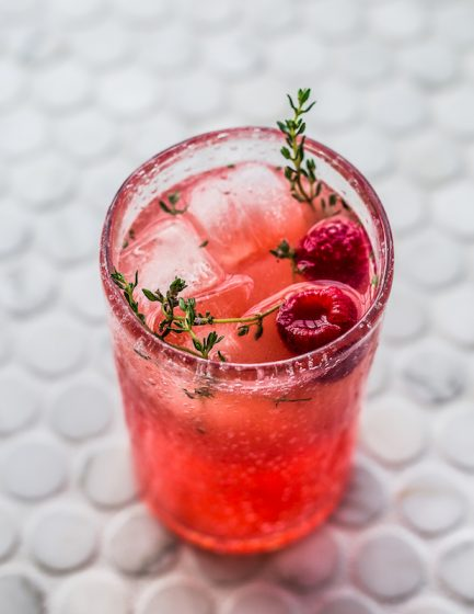 Raspberry Lemonade Mocktail