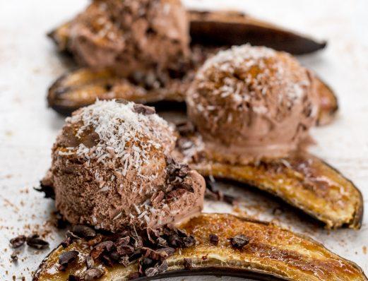 Banana Split with Chocolate Ice Cream