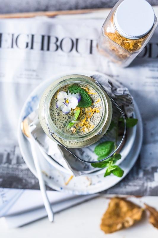 Warm Green Tea Smoothie
